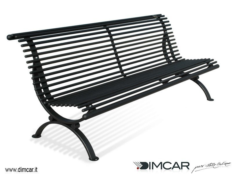 Classic style metal Bench with back Panchina Lory by DIMCAR