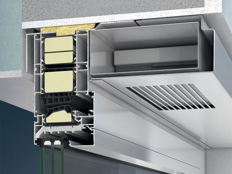 Mechanical forced ventilation system Schüco VentoTherm by Schüco