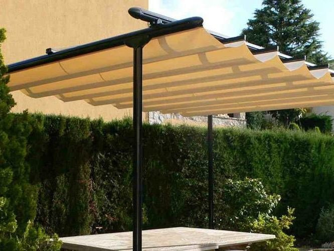 Freestanding pergola with sliding cover TOSCA by KE Outdoor Design