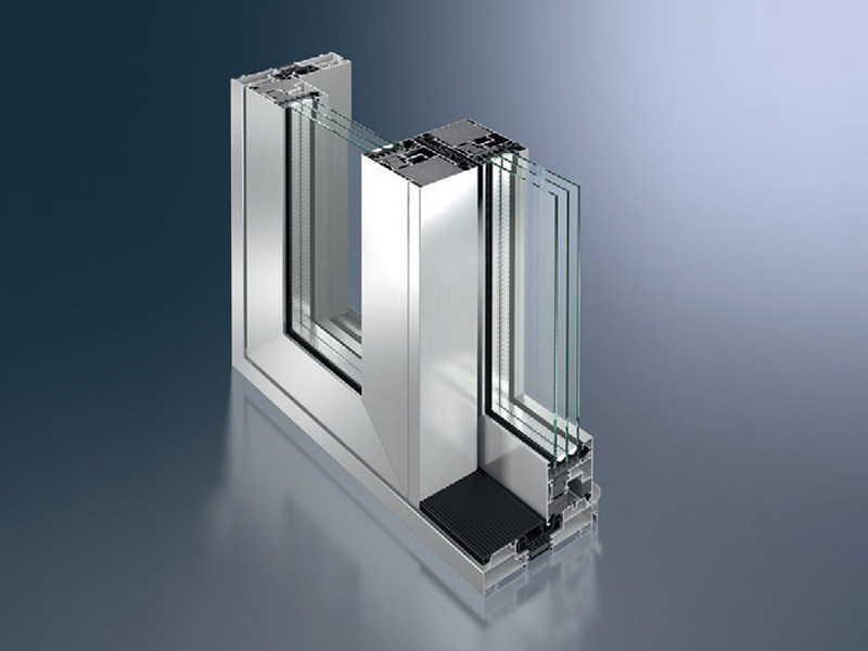 Aluminium lift and slide window Schüco ASS 70.HI by Schüco