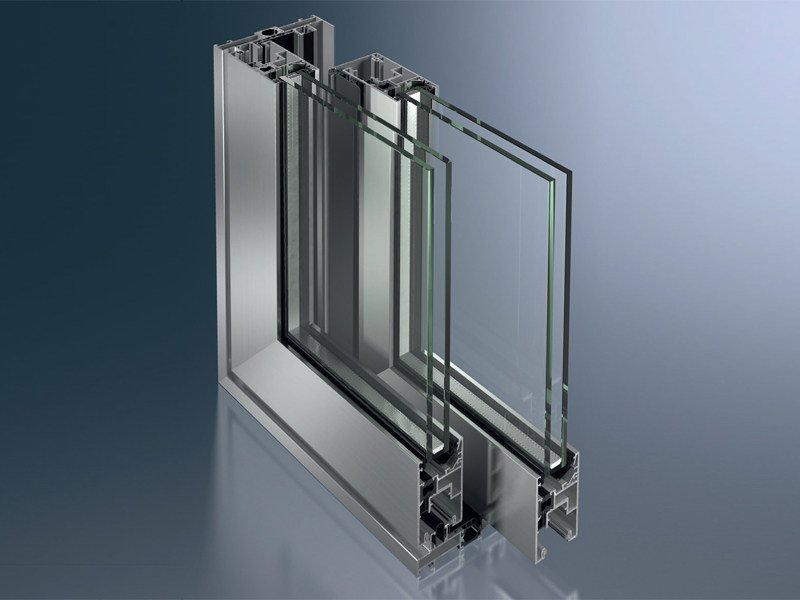 Aluminium lift and slide window Schüco ASS 50 by Schüco