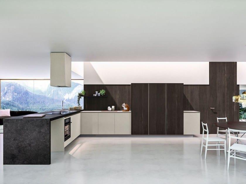 way k che mit halbinsel kollektion sistema by snaidero. Black Bedroom Furniture Sets. Home Design Ideas