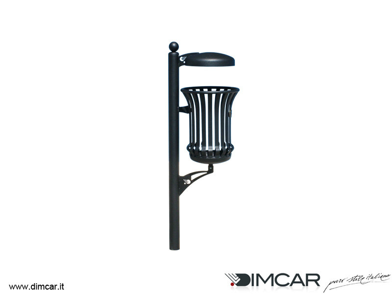 In-ground outdoor metal litter bin with lid Cestino Mida con coperchio by DIMCAR
