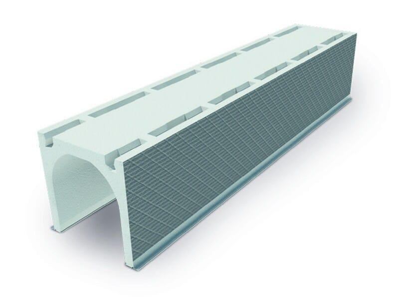 ROTO cassonetto in polistirene con finitura esterna in malta o fibre di legno, con interno arrotondato