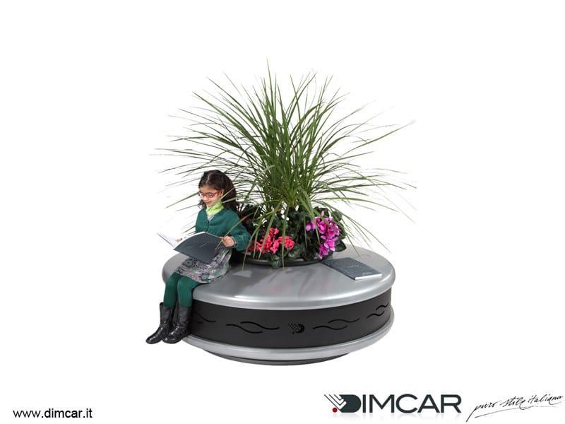 Metal Flower pot Fioriera Antares by DIMCAR