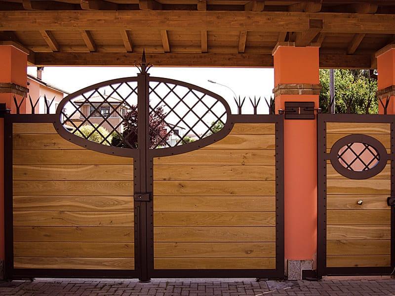 Cancelli Di Legno Prezzi : Cancello in ferro rivestito in legno by quartieri luigi