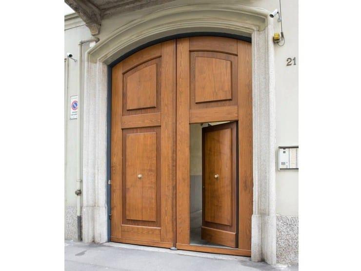 Portone d'ingresso in metallo rivestiti in legno Portoni d'ingresso in metallo rivestiti by QUARTIERI LUIGI