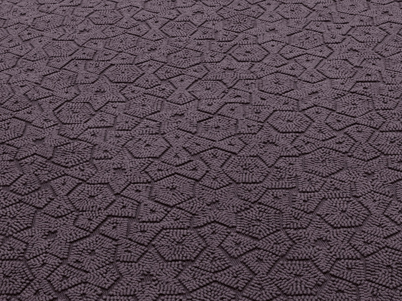 Solid-color wool rug with geometric shapes ASTER by paola lenti