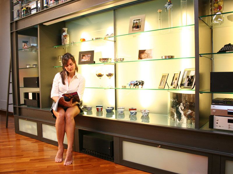 Sectional custom steel bookcase Custom bookcase by QUARTIERI LUIGI