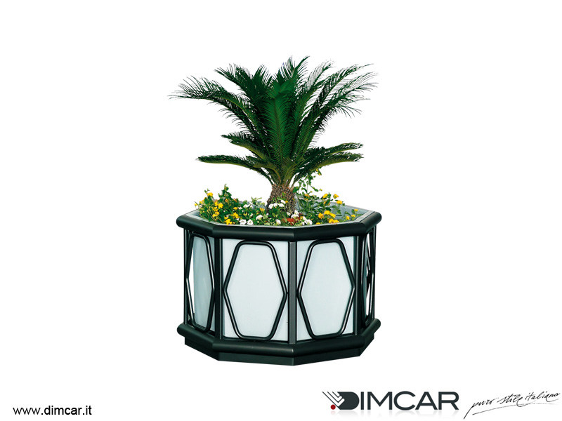 Metal Flower pot Fioriera Ibiza by DIMCAR