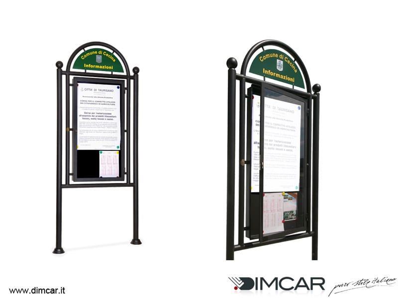 Galvanized steel notice board Bacheca Athena by DIMCAR