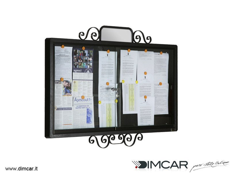Wall-mounted galvanized steel notice board Bacheca Classic by DIMCAR