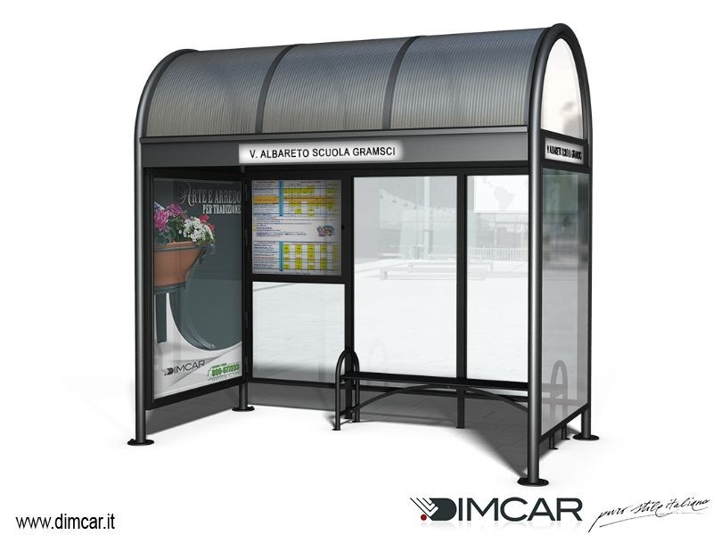 Steel porch for bus stop Pensilina Modena p.165 by DIMCAR