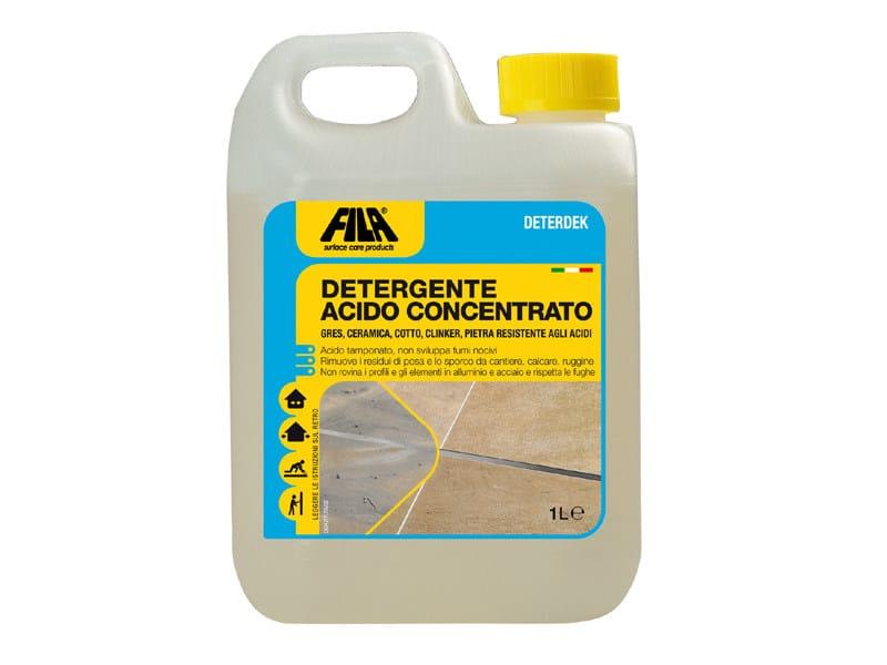 Come Togliere Macchie Di Acido Dal Marmo.Disincrostante Acido Per Pavimenti Deterdek Fila