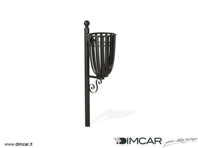 In-ground outdoor metal litter bin Cestino Otranto by DIMCAR