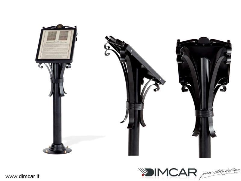 Galvanized steel information stand Leggio Barocco by DIMCAR