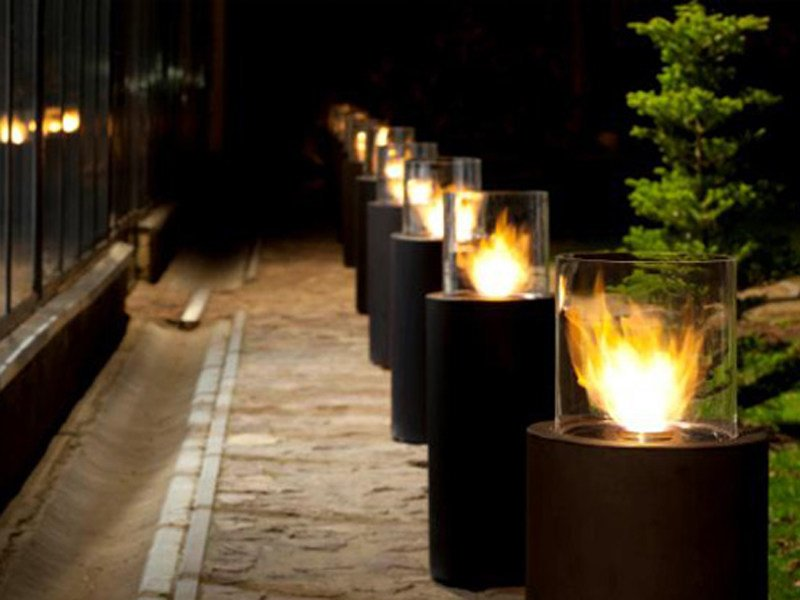 Outdoor freestanding fireplace TOTEM COMMERCE by Planika