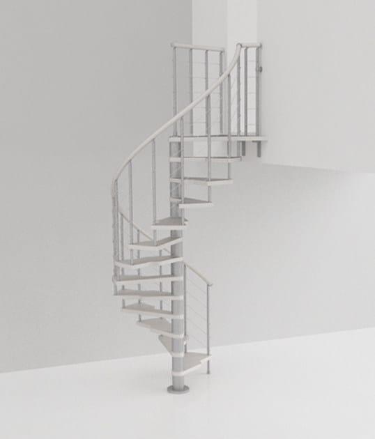 L'alzata bassa dei gradini 2:Easy Fontanot rende le scale a chiocciola più comode
