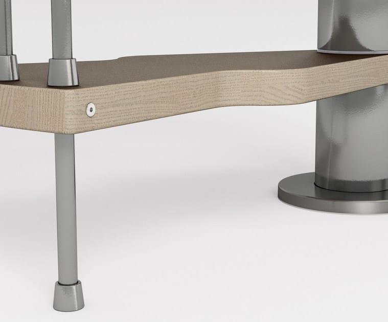 La forma ergonomica dei gradini 2:Easy Fontanot aumenta la sicurezza e la comodità delle scale a chiocciola