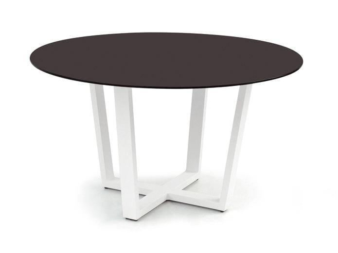 Round aluminium garden table FUSE   Round table by MANUTTI