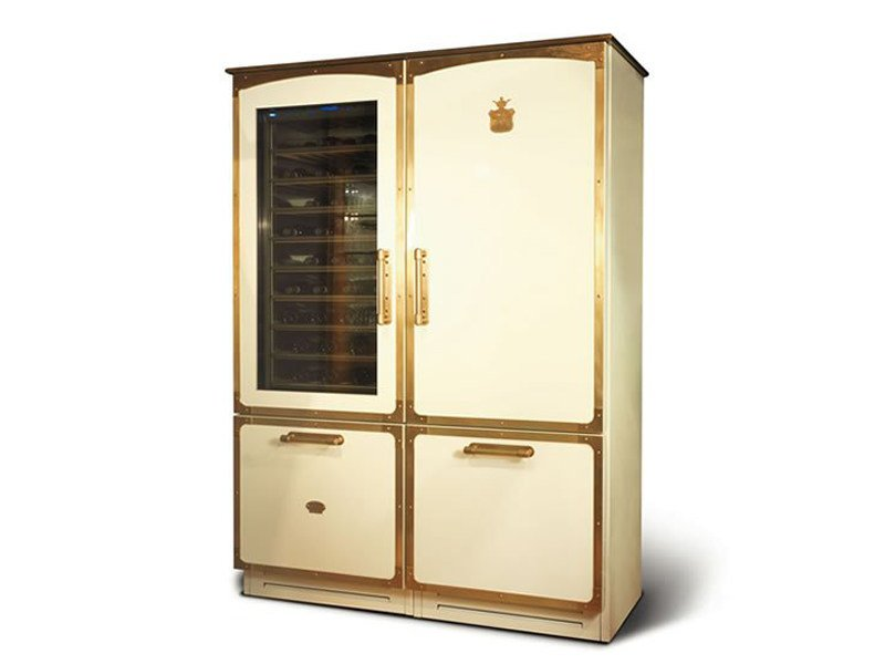 Refrigerator with wine cooler Class A + OGF150K | Refrigerator by Officine Gullo