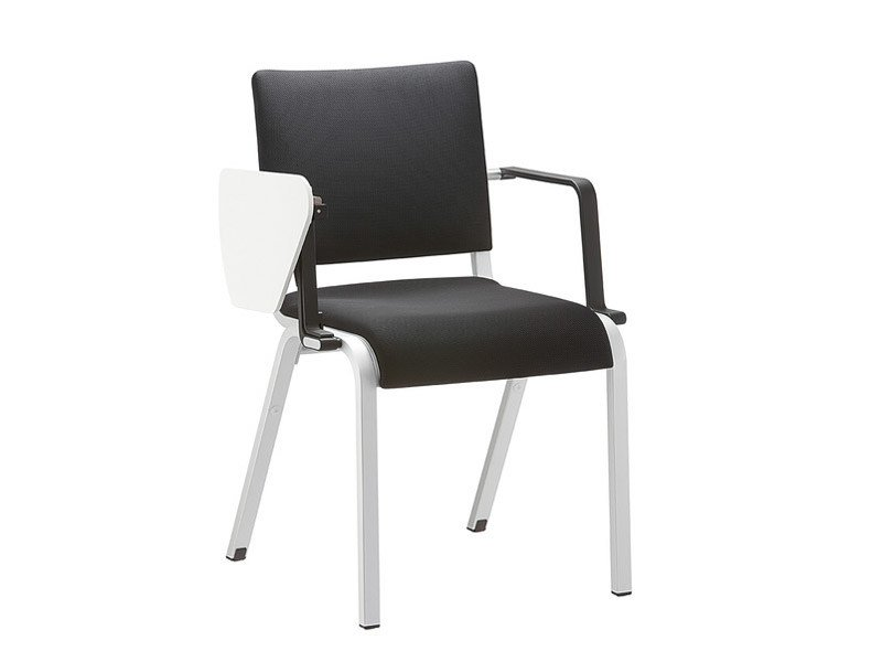 Stackable fabric training chair with armrests ALITE | Training chair with armrests by Brunner