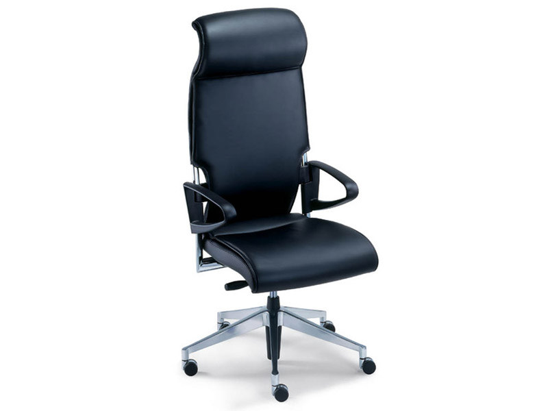 Leather task chair with casters DRIVE | Leather task chair by Brunner