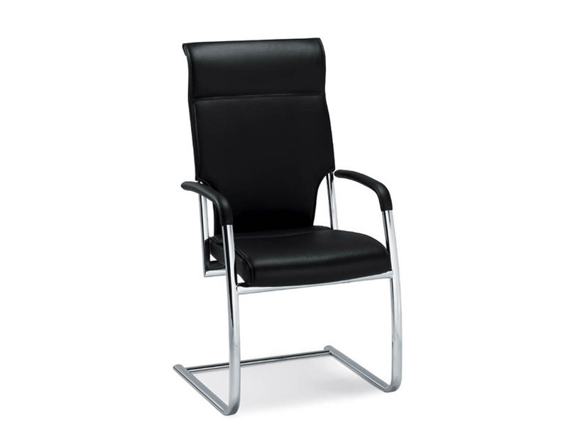 Cantilever leather visitor's chair with Armrests DRIVE | Visitor's chair with Armrests by Brunner