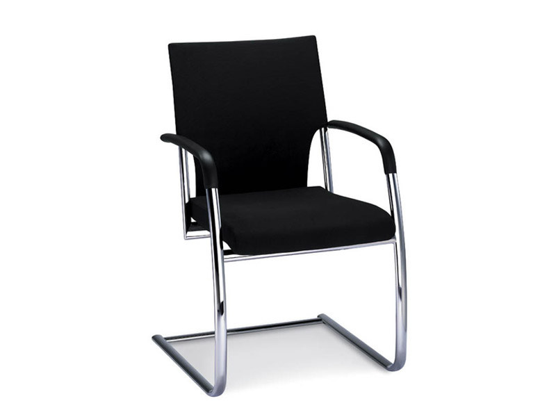 Cantilever fabric visitor's chair with Armrests DRIVE | Fabric visitor's chair by Brunner