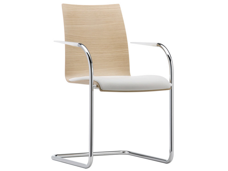 Cantilever visitor's chair with Armrests FINA | Cantilever visitor's chair by Brunner