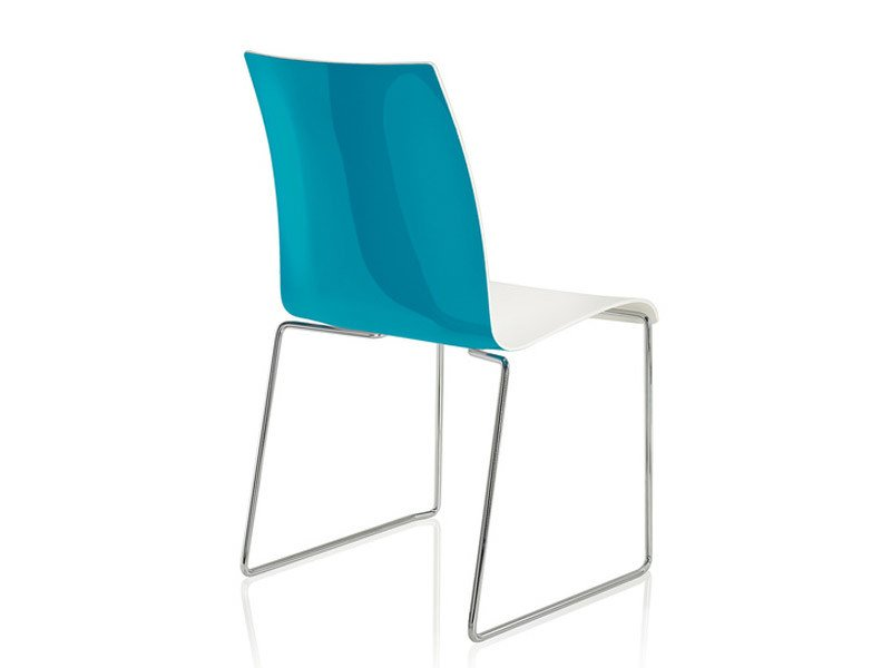 Sled base stackable plastic chair FINA   Reception chair by Brunner