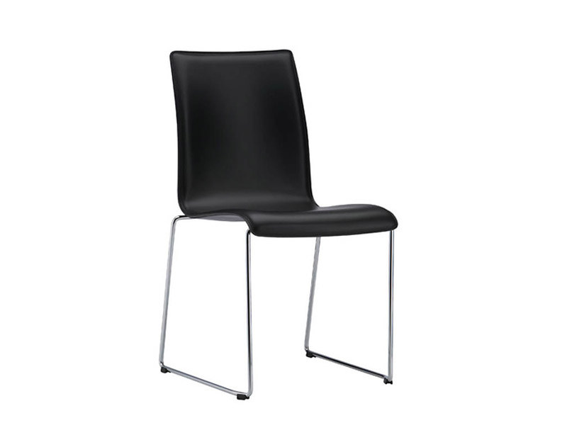 Fina sedia d attesa a slitta by brunner design wolfgang c r mezger