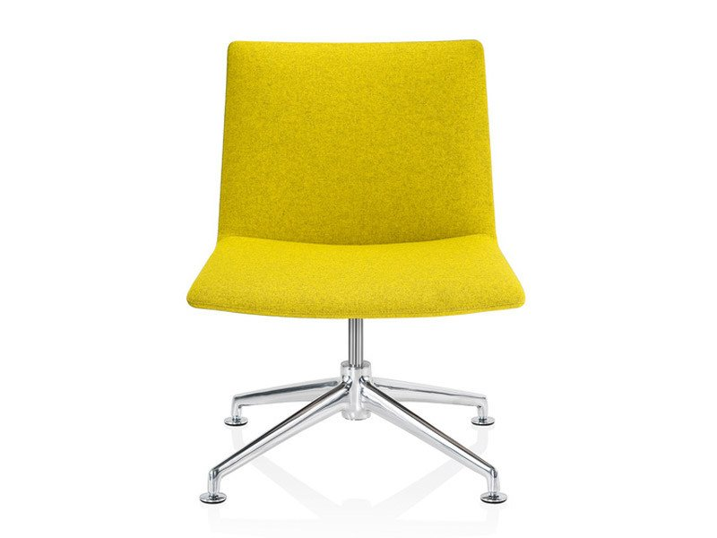 Upholstered easy chair with 4-spoke base FINALOUNGE | Easy chair by Brunner