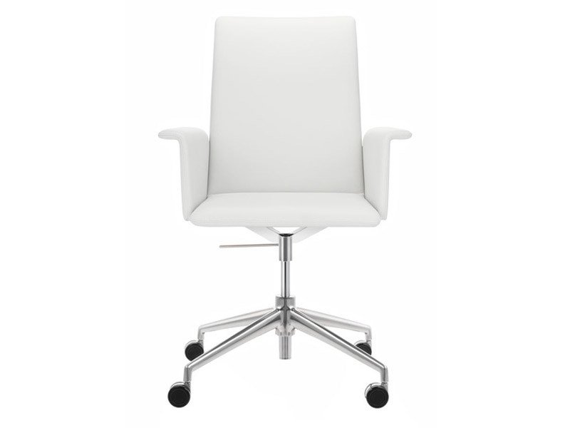 Task chair with 4-Spoke base with casters FINASOFT | Task chair with armrests by Brunner