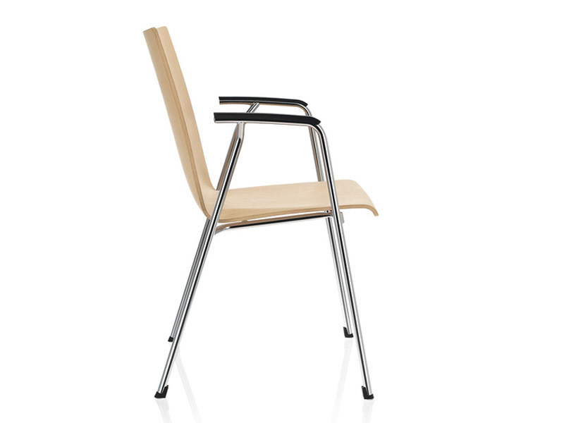 Stackable wooden training chair with armrests FIRST LINE   Chair by Brunner