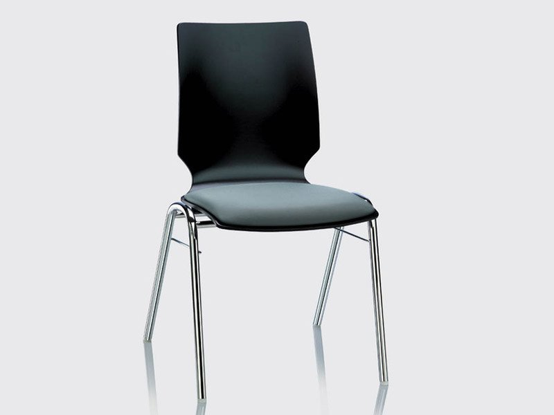 Upholstered stackable chair FOX | Upholstered chair by Brunner