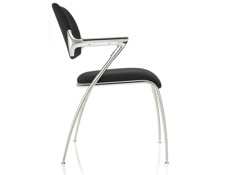 Upholstered chair with armrests GOLF by Brunner