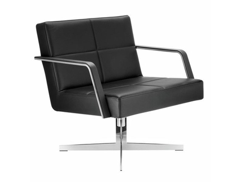 Easy chair with 4-spoke base with armrests GRATO | Easy chair with armrests by Brunner