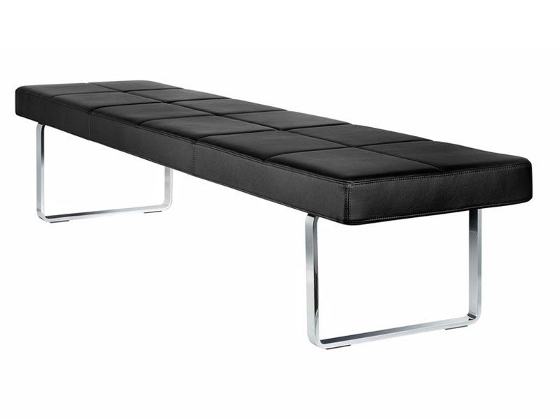 Upholstered leather bench GRATO | Bench by Brunner