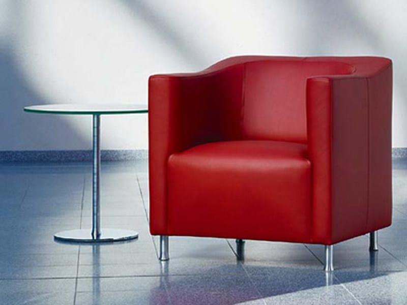 Upholstered leather armchair HAVANA | Armchair by Brunner