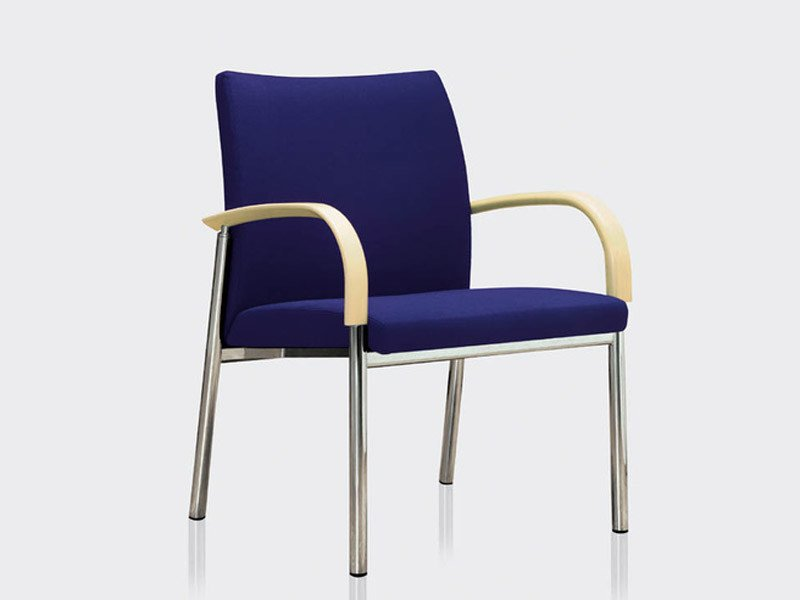 Fabric easy chair with armrests JUMP | Easy chair by Brunner