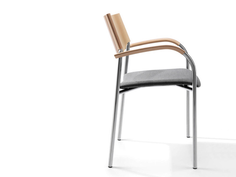 Stackable chair with armrests JUMP | Chair with armrests by Brunner