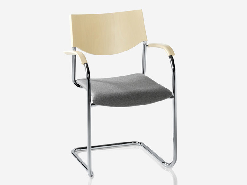 Cantilever chair with armrests JUMP   Cantilever chair by Brunner