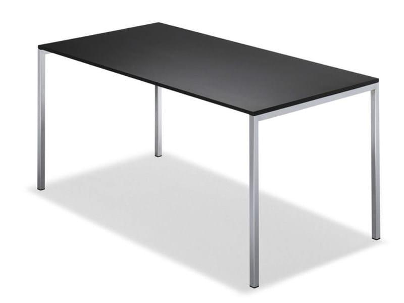 Rectangular steel table MILANOCLASSIC by Brunner