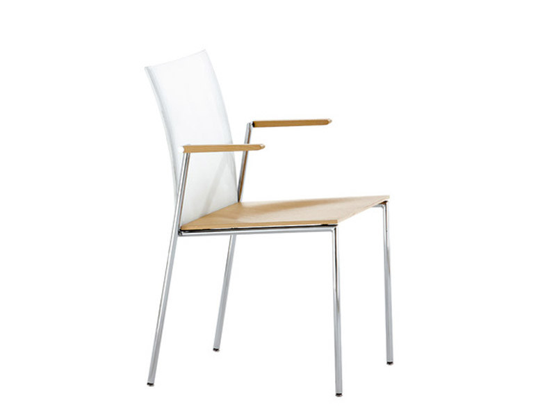 Stackable chair with armrests MILANOFLAIR | Chair with armrests by Brunner