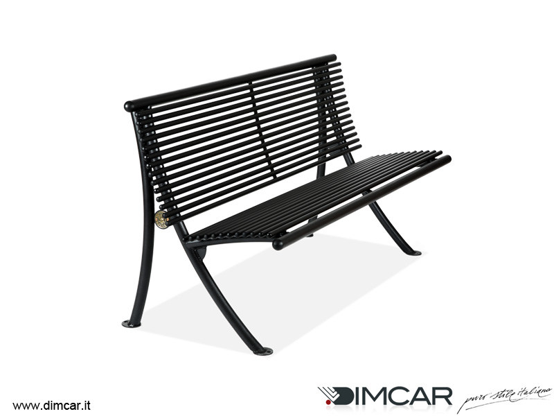 Contemporary style metal Bench with back Panchina Dubai by DIMCAR