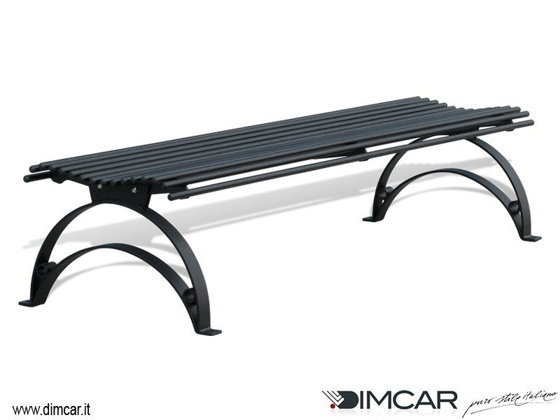 Classic style backless metal Bench Panca Danea by DIMCAR