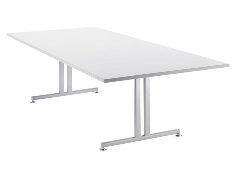 Folding rectangular meeting table TORINO | Meeting table by Brunner