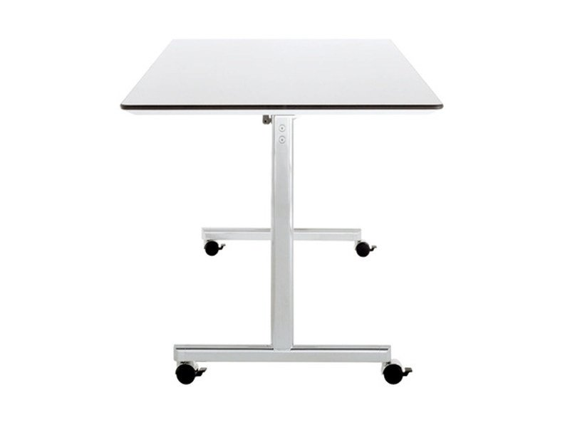 Folding rectangular meeting table with casters TORINO | Meeting table with casters by Brunner