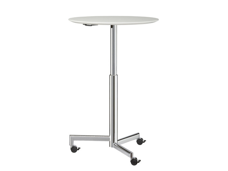 Height-adjustable round table with castors TORINO | Round table by Brunner